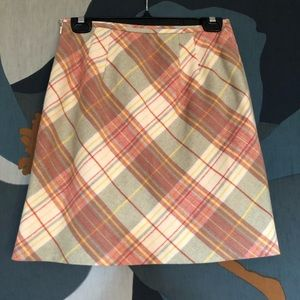 LOFT wool plaid skirt size 4P